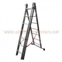 13' A-Type Triple Extension Aluminum Ladders 7 rungs