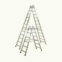Double Sided Step Aluminum Ladders 6/12 treads