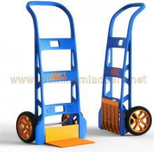 Monocoque hand truck in strengthened technopolymer